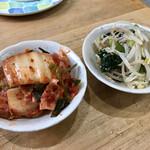 焼肉 八廣 - キムチ、ナムル