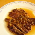 バイキングレストラン サラフル - 最初に出てきたステーキ