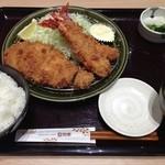 和幸 - 料理写真:さつき(ロースかつ&海老フライ)