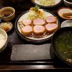 154331265 - あじ豚ヘレカツ定食