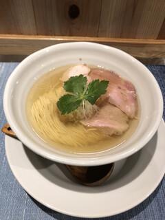 成城青果 - しおそば 650円 香味オイルが秘密兵器❗️  息を呑む美味しさ(*´꒳`*)✨