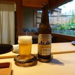 ふじさわ - ドリンク写真:最初はビール