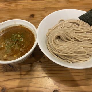 らーめん いつ樹 - 料理写真:海老つけ麺、味玉入り。麺大盛り