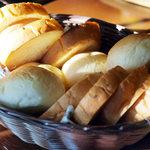南阿蘇ルナ天文台・オーベルジュ「森のアトリエ」 - 料理写真:朝食のパン(4人分)。これがまた美味い。