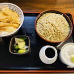 そば 貴義 - 料理写真:「天丼とミニそばセット」1,000円税込み
