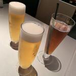 ガンボ&オイスターバー - お昼の生ビールは格別