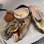 ガンボ&オイスターバー - おまかせ焼き牡蠣3種&特製フライ