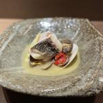 マルノワテーブルりんどう - 真鯛アクアパッツァ 月山筍、水茄子出汁