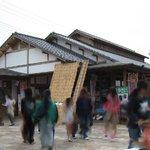 吉備路もてなしの館 山手  - 店の外は観光客で賑わう