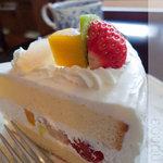 ブーケ - フルーツショートケーキ