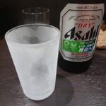中華そば べんてん - ビール 中(お通し付)