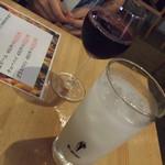 隣 - ドリンク写真:赤ワインとカルピス