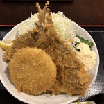 二代目 魚屋町 - アジフライ定食