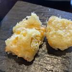 藁焼きと水炊き 葵 - とうもろこしの天ぷら