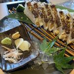 藁焼きと水炊き 葵 - 鯛の藁焼き