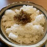 藁焼きと水炊き 葵 - ちりめん山椒ご飯