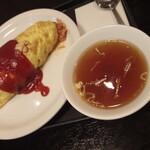 三松会館 - オムライスのスープ