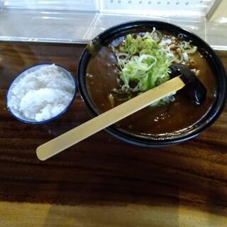 吉宗 - 料理写真:カレーうどん大盛りとご飯