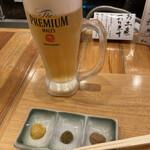 小田原おでん 本陣 - 生ビール