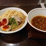 麺ゃ しき - つけ麺中盛+濃厚玉子
