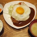 ももやま - 料理写真:ハンバーグかつセット