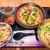 沖縄料理 美ら結 - 料理写真:ゴーヤチャンプール定食(そば大盛) 800円(オープン直後なので大盛無料にしてくれました)