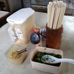 讃岐製麺所 - 料理写真:卓上