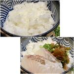 和食日和 おさけと - お米は新潟県十日町産の魚沼コシヒカリ、コースに名前が付いているのですから、鈴木さんが作られているのでしょうね。 ご飯も炊き加減が好み、香りはさほどではありませんが味としては甘みがありました。