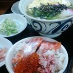 北海丼と卵とじうどんランチセット650円
