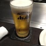 広島風お好み焼 あす香 - 生ビール(500円)