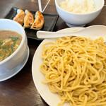 麺ダイニング 福 - つけ麺 餃子セット