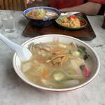 食堂いずみ - 広東麺¥750