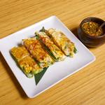 シクタン - 新メニュー【九条葱のドンレパジョン】ふんわりたまごの海鮮チヂミ