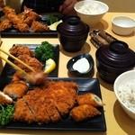 15451564 - 選べる定食×2+カキフライ