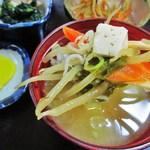 和 - 味噌汁の具 up