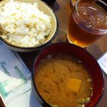 おかずや+CAFE - 発芽玄米ごはんとお味噌汁