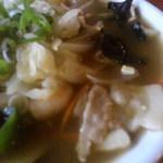 食房一洋 - 五目ラーメン スープ