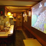 お食事処こやま - 甲子園地区最大の180㎝×100㎝の大スクリーンを楽しもう♪