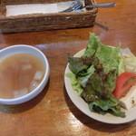 パスタ・リッチ - スープ&サラダ