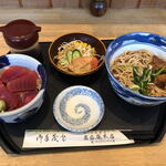 萬盛庵 - 料理写真:ミニ鉄火丼セット