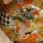 食堂 勿ノ怪 - 白身魚のカルパッチョ