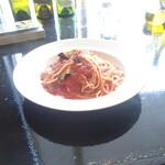 Steak&Wine Vabene - 別注で異人茄子と燻豚肉のパスタ