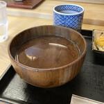 天茂 - シジミの赤出汁。