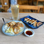 中華居酒屋 善香酒場 - お酒セット(鶏唐揚げマヨ、焼き餃子、ハイボール)