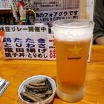 鳥新 - 生ビールは風味爽快ニシテ