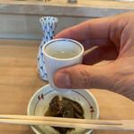 とんかつ とんき - ドリンク写真:そしてこうなる。麒麟山伝統辛口、通称「伝辛」普通酒。