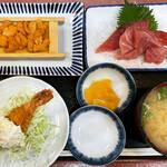 三洋食堂 - ウニ付きマグロ定食2000円
