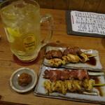 居食屋 渡美 - 角ハイボール大と串焼き