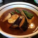 曉 - チキン+3野菜、スープ大盛り、辛さ 40番