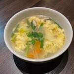 とがし肉家 - たまごスープ
